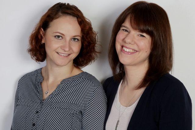 Homebase Bonn im DAAD Renata Dujmovi? und Anne Münkel (von links nach rechts)