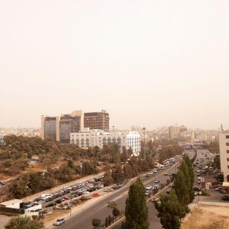 Diesiger Blick auf Amman