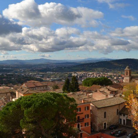 Panoramaaussicht über Perugia