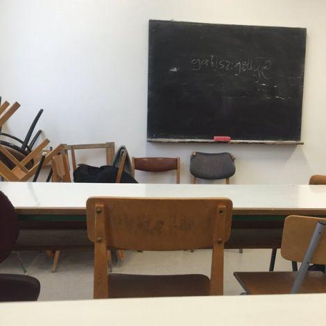 Seminarraum an der ELTE-Universität