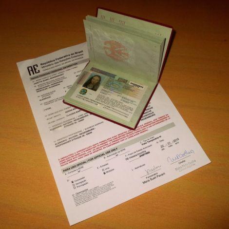 Reisepass mit Visum