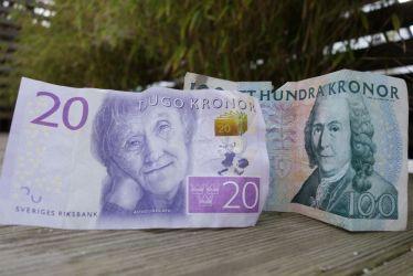 Noch können wir Astrid Lindgren auf dem schwedischen 20 Kronen Schein sehen