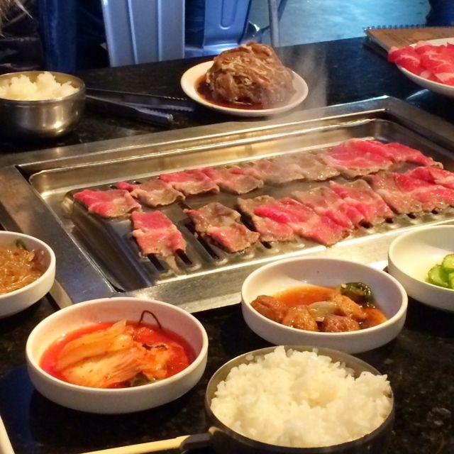Koreanisches BBQ im Restaurant