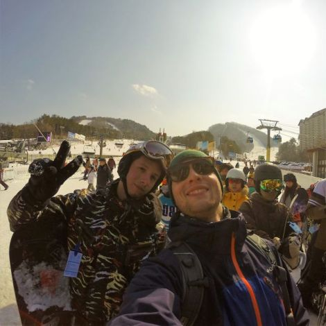 Skifahren in Korea