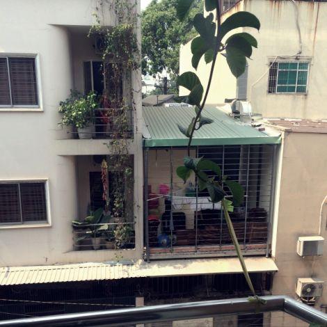 Blick auf Balkone