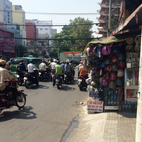 Laden auf Fußweg in Vietnam