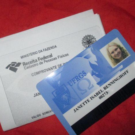 Am Ende erfolgreich: mein Studentenausweis und die offizielle Anmeldung
