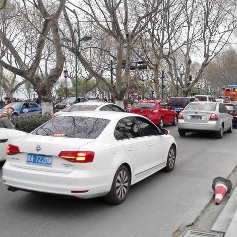 Stau iauf Straße n Hangzhou
