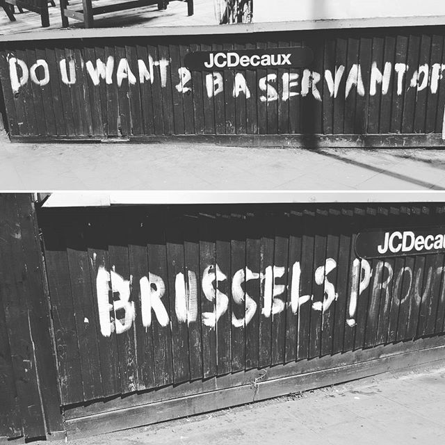 """Do you want to be a servant of brussels"""