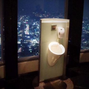 Toilette auf dem Tower - mit Ausblick