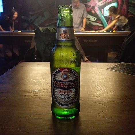 Flasche Tsingtao-Bier