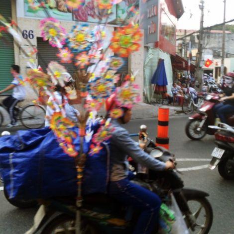 Windmühlen auf Motorroller