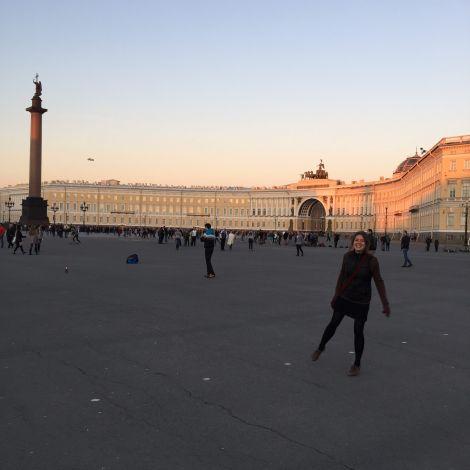 Abends auf dem Palastplatz