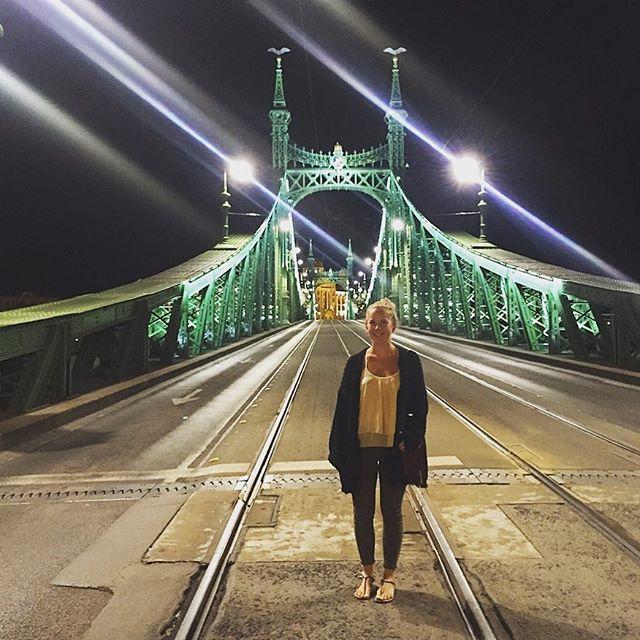 Auf der Brücke in Budapest