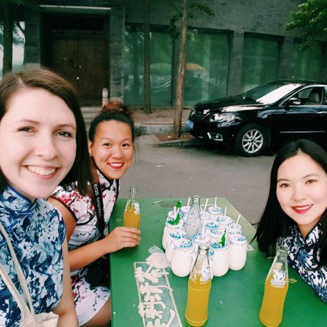 Sophia und zwei Freundinnen