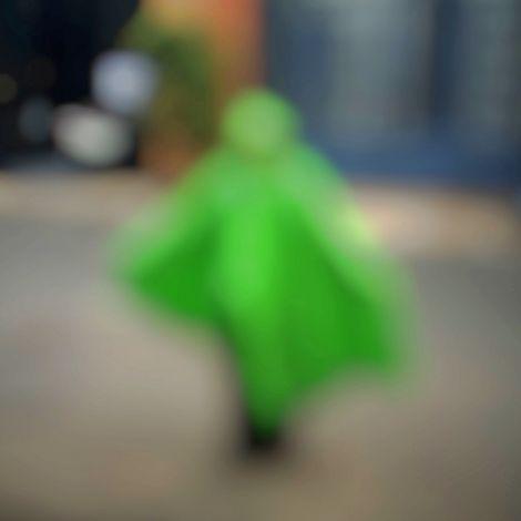 Verschwommenes Etwas in grün
