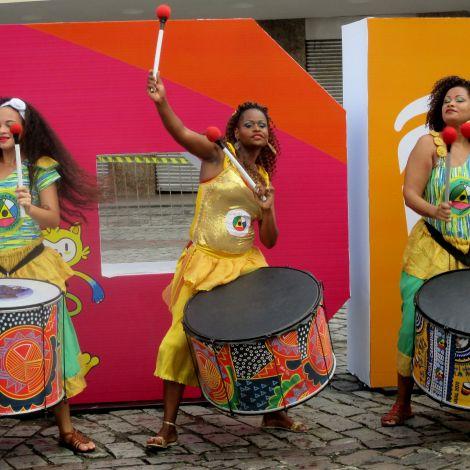 Samba-Band in der Stadt Salvador, Brasilien