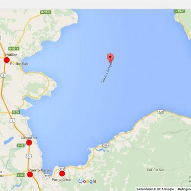 Karte des Llanquihue-Sees