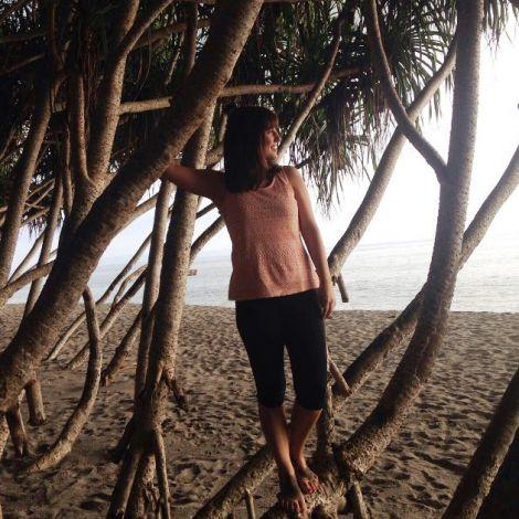 Linda am Strand