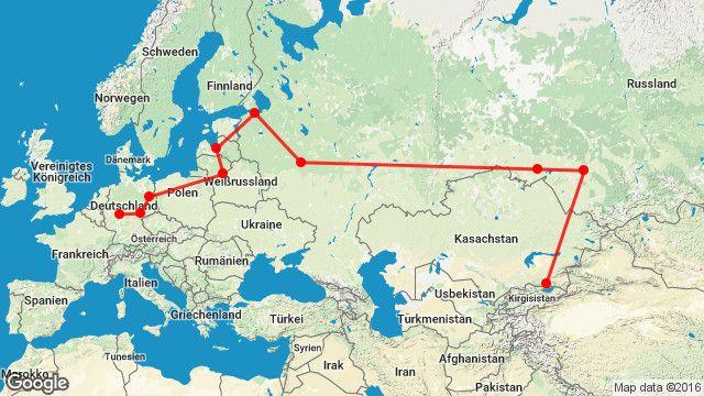 Auf dem Weg nach Kasachstan: Die Route