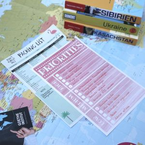Weltkarte, Reiseführer und Listen