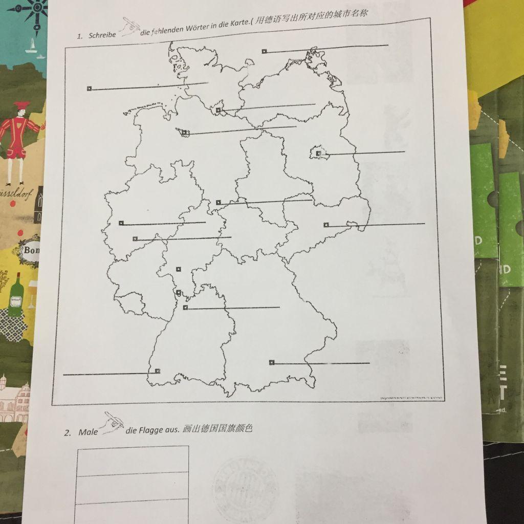 Stumme Karte.Deutschland Rallye Stumme Karte Studieren Weltweit