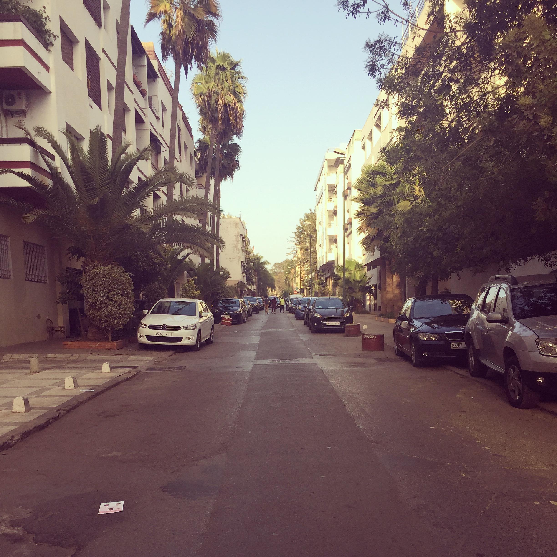Straße in Rabat, Marokko