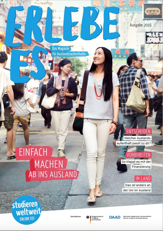 """Magazin """"Erlebe Es"""", Ausgabe 2016, Cover"""