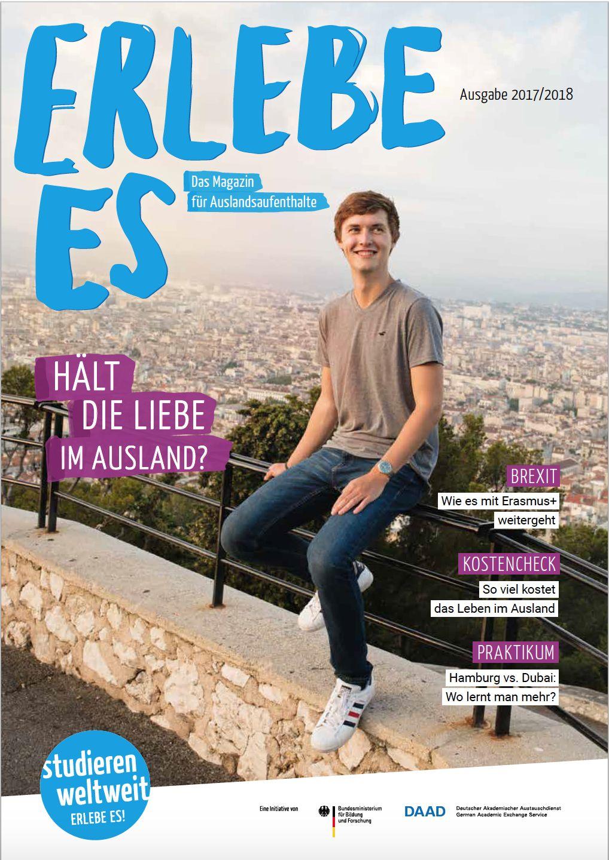 """Magazin """"Erlebe Es"""", Ausgabe 2017, Cover"""