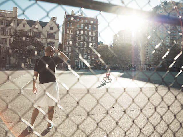 Sportplatz in Manhattan