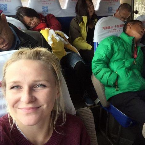 Ungelogen 2 Minuten nachdem wir alle den Bus bestiegen haben bei einer insgesamt 10-minütigen-Fahrt :-D