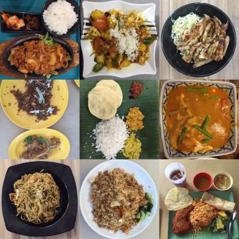 Verschiedene Asiatische Gerichte