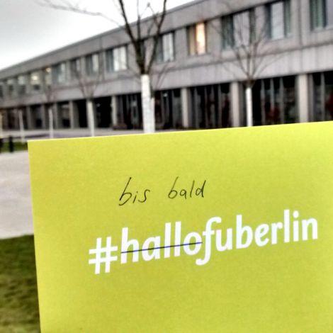 Karte: Bis bald FU Berlin