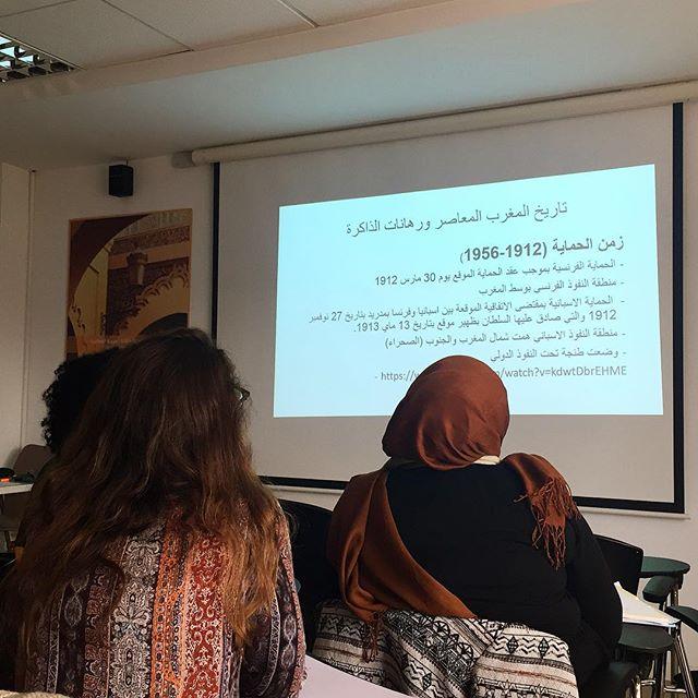 Während der Vorlesung in marokkanischer Geschichte in Rabat an der EGE