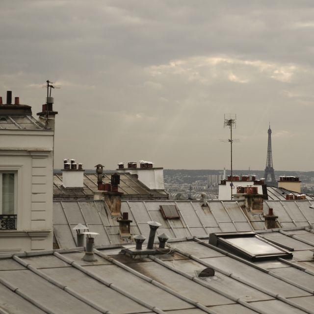 Paris, Blick von Montmartre auf den Eiffelturm
