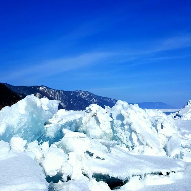 Eisformation auf dem Baikalsee