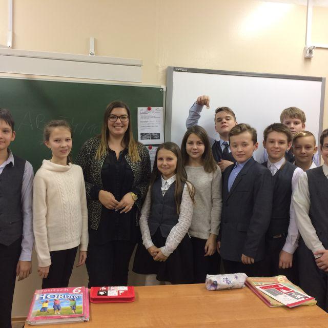 Eine Schulklasse in Russland