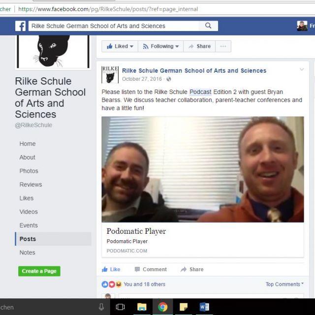 Podcast auf Facebook