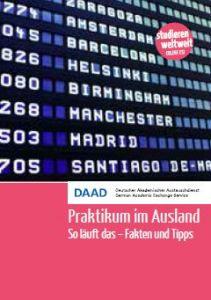 Cover Broschüre Praktikum im Ausland