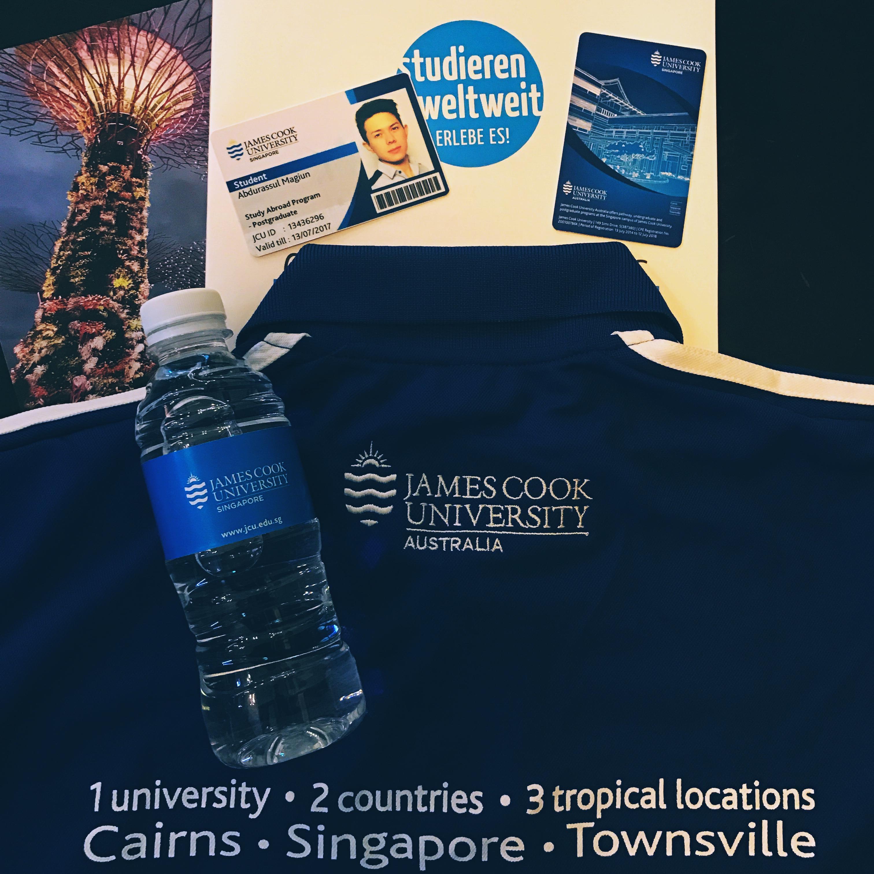 JCU, giveaways, Shirt, blau, uni, card