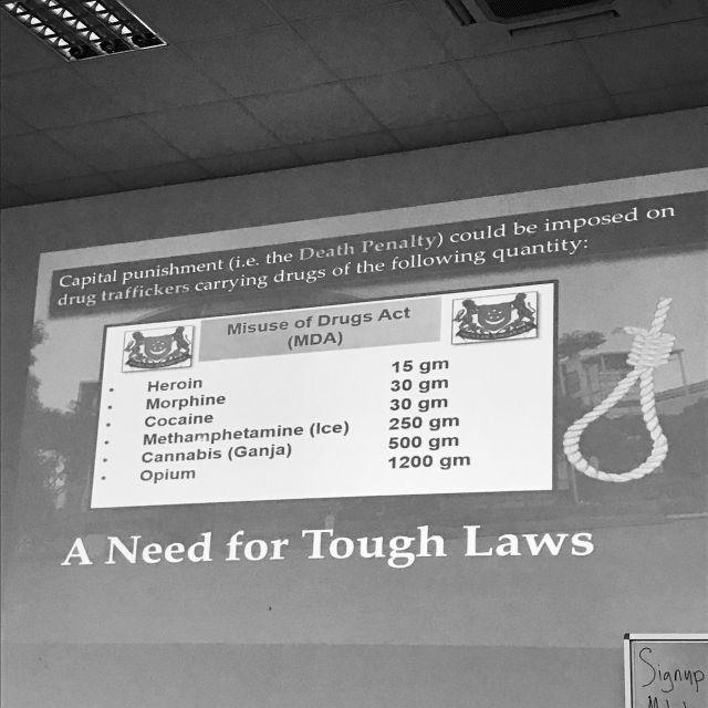 Todesstrafe, Liste, Mengen, Drogen