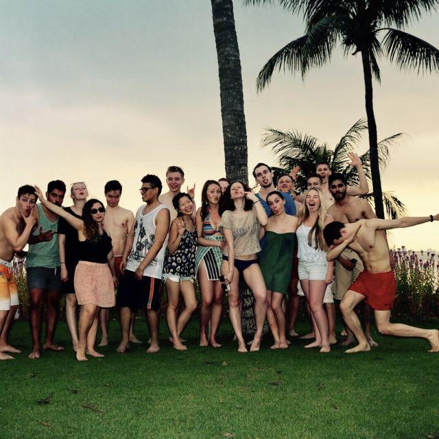 Gruppe, Spaß, albern