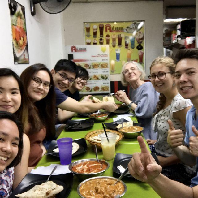 Gruppe, Selfie, Indisch, Essen, lecker