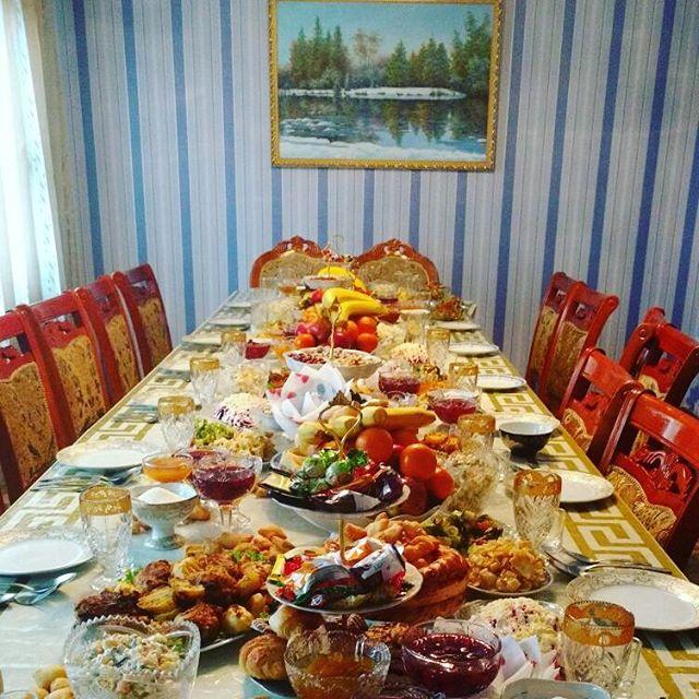 Kirgistan Wohnzimmer Tafel Essen aus Kirgistan