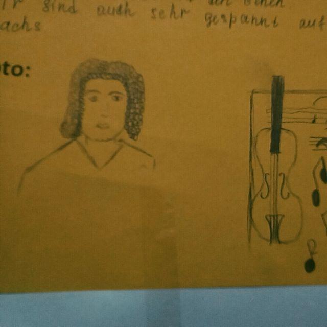 Bach Skizze Steckbrief Deutschunterricht Bischkek Kirgistan