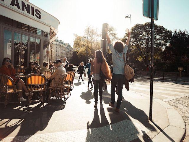 Straßenszene Paris
