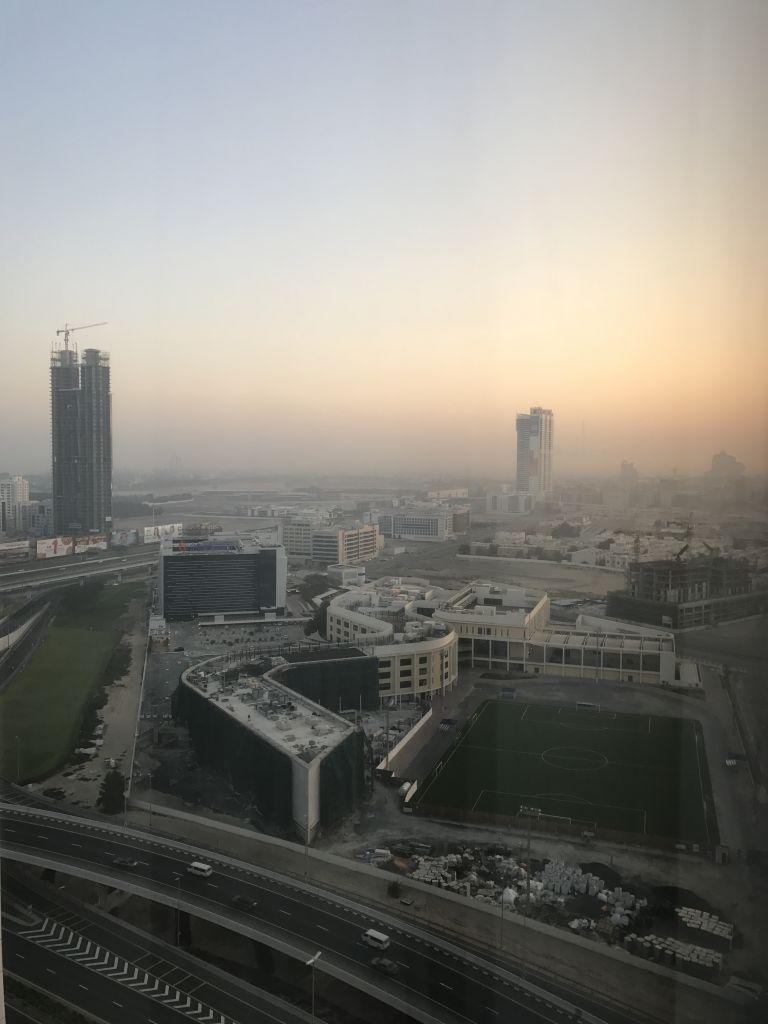 Ausblick von meinem Zimmer kurz nach Sonnenaufgang