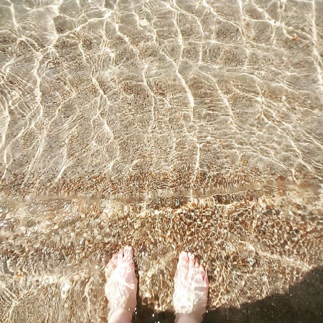 Issyk Kul See Wasser Füße