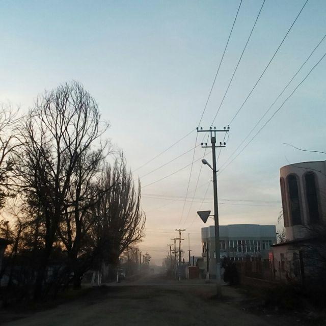 Karakol leere Straßen Abenddämmerung