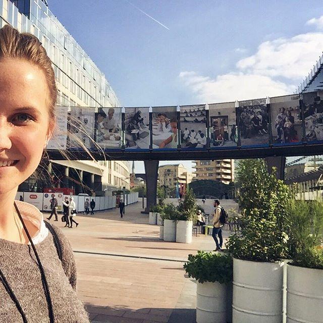 Selfie von Caroline im Brüsseler Europaviertel.